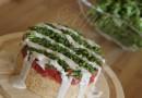 Ароматно просо със свежест, таханов сос и билкова зелена салата